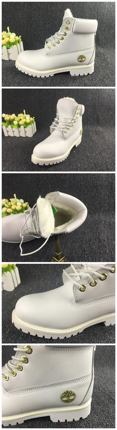 Mens Timberland 6 Inch Fleece Waterproof Winter Shoes Snow Warm Boots White and Gold,Fashion White Timberland Men Boots,New timberland classics Boots 2016,timberland style boots,customized timberland boots