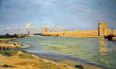 Frédéric Bazille - The Ramparts at Aigues-Mortes at National Art Gallery Washington DC by mbell1975, via Flickr