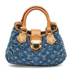 Louis Vuitton Pleaty Denim Blue Tote Bag. Get one of the hottest styles of the season! The Louis Vuitton Pleaty Denim Blue Tote Bag is a top 10 member favorite on Tradesy. Save on yours before they're sold out!