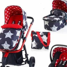 Gorgeous Stars and Stripes travel system pram from Cosatto