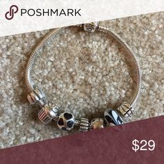 Pandora Bracelet Does NOT include the charms. Authentic pandora bracelet. Pandora Jewelry Bracelets