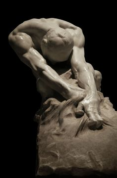 "Sculpture : Gaetano-Cellini ""L'umanita contro il male"""