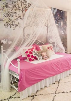 We recently had the pleasure of meeting Bethany Struble (a blogger, photographer, and singer) and her spunky 5-year-old daughter, Kylie, and knew immediately that we wanted to have a Laurel & Wolf designer make over Kylie's room. This girl's bedroom idea is specifically for Kylie, but there is plenty here to help inspire any young girl's room!