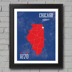 Chicago Cubs Print by UniversityPrints on Etsy, $12.00