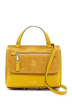e3c48ae547d8 Image of Marc Jacobs Small Waverly Top Handle Bag Yellow Shoulder Bags
