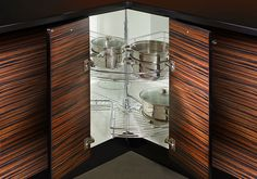 Super Base Lazy Susan with Chrome Shelves - DeWils Custom Cabinetry - Planning Center - Accessories - Organization Planning Center, Kitchen Cabinet Manufacturers, Small Cabinet, Bath Fixtures, Lazy Susan, Custom Cabinetry, Kitchen And Bath, Showroom, Shelving