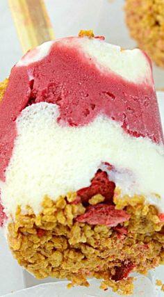 Berry Cream Crunch Pops
