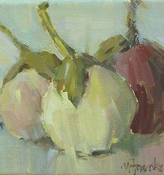 Les Aubergines by Nancy Franke Oil ~ 6 x 6