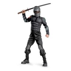 GI Joe Retaliation Muscle Chest Kids Snake Eyes Costume #officialsuperherocostumes