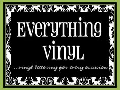 This site is actually trying to sell their items - but it has some really good/cute ideas for stuff to make with vinyl!!!