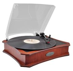 Retro Style Vinyl Turntable With USB-To-PC Recording (Mahogany)