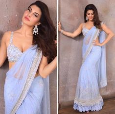 Most Stylish Outfits to Steal from Jacqueline Fernandez for your BFF's Wedding Wedding Dresses For Girls, Indian Wedding Outfits, Bridal Outfits, Indian Outfits, Saree For Wedding, Indian Clothes, Wedding Updo, Indian Weddings, Indian Designer Outfits