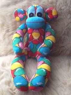 Handmade Sock Monkey Called Jellybean By Sunnyteddys Designs