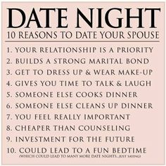 Which number do you agree with the most? #datenight