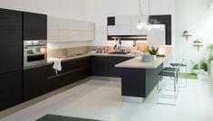 4 Unique and Fresh Small Kitchen Design Ideas Home Decor Kitchen, Kitchen Interior, Home Kitchens, Kitchen Dining, Kitchen Island, Kitchen Ideas, Modern House Facades, Minimalist Kitchen, Cabinet Furniture