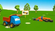 Cartoni Animati per Bambini - Leo e le macchine sportive