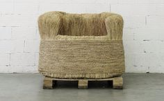 rice straw chair