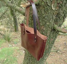SCKLeather Handmade Tote bag Soft Milled Veg Tan by SCKLeather