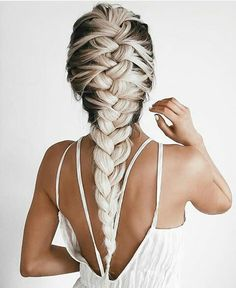 Love this French braid. The colours make it gorgeous!