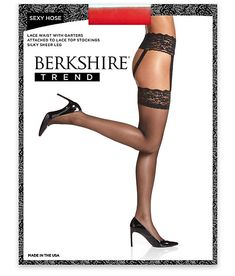 Berkshire Sexy Hose Lace Waist Garter Stockings Hosiery - Women's for Sale in Riviera Beach, FL - OfferUp Waist Cincher Corset, Lace Garter, Garter Belts, Plus Size Bra, Open Toe Shoes, Bare Necessities, Thigh Highs, Women Lingerie, Hosiery