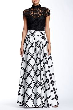 Long Checkered Skirt by Gracia on @HauteLook                                                                                                                                                      More