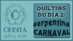 Quilting do dia # 2 : serpentina de carnaval (Quilting design 2 : carniv...