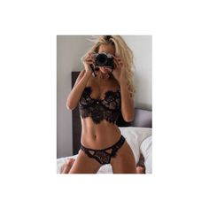 Women's 2pc Sexy ($13) ❤ liked on Polyvore featuring intimates, black, lingerie, sexy lingerie, sexy lace lingerie, lace lingerie and lacy lingerie
