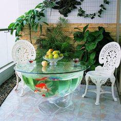 aquarium table, not sure but love the space Aquarium Pump, Home Aquarium, Aquarium Design, Aquarium Fish Tank, Planted Aquarium, Fish Aquariums, Cool Fish Tanks, Tropical Fish Tanks, Aquarium Original