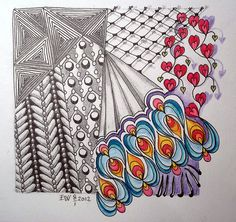 Zentangle with some color