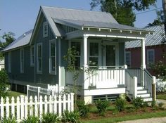 Mississippi architect Bruce Tolar.  Two bedroom, one bath, 672 sq. ft. including hurricane-resistant construction