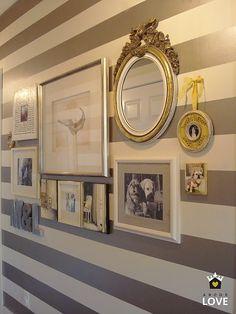 Metalic Stripes Gallery Wall