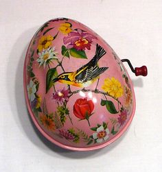 1954 Tin Litho Musical Egg