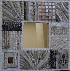 White mosaic mirrorrain inspired mosaic mirror by Ambermosaics2013, $175.00