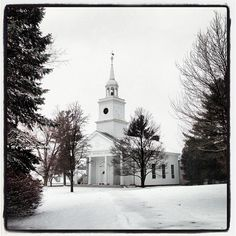 The Flagler Memorial Chapel on a wintry day