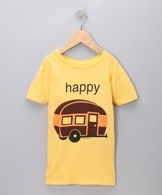 Happy Camper. I totally want to make this shirt...