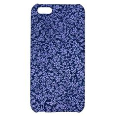 Vintage Blue Flowers Cover For iPhone 5