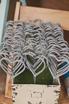 heart shaped sparkles perfect for weddings and other awesome parties #heartshapedsparklers #weddingexit #funweddingidea http://www.weddingchicks.com/2013/11/05/diy-barn-wedding/