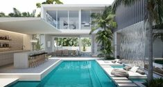Simple Bedroom Decor, Architecture Building Design, Dream Pools, Dream House Exterior, Resort Style, Coastal Homes, My Dream Home, House Plans, New Homes