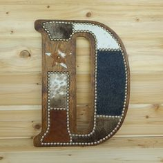 Cowhide Wall Letter D Made to Order Western Home by LizzyandMe