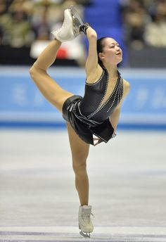 Japan's Akiko Suzuki performs in the women's short program at the World Team Trophy figure skating competition in Tokyo on April 11, 2013.