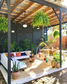 Large Backyard Landscaping, Backyard Patio Designs, Backyard Pergola, Pergola Designs, Patio Ideas, Pergola Kits, Pergola Roof, Backyard Ideas, Small Pergola