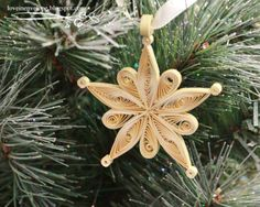 Handmade Ornaments | Quilled Snowflake Handmade Christmas Ornament Pic #19