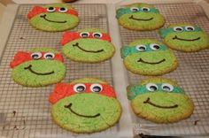TMNT cookies (how to sneak chocolate chips into these for Mason???)