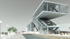 albino alligator sustainable mixed use building by