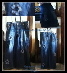 Brenda Garden Worker Jean Skirt Custom Your Size choose your size and length