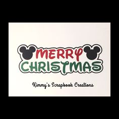 A personal favorite from my Etsy shop https://www.etsy.com/listing/472958016/disney-merry-christmas-scrapbook-title