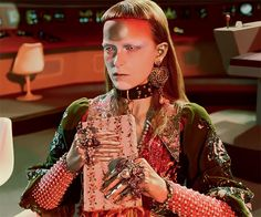 Human Characters Interact With Extra-Terrestrial Creatures And Dinosaurs – New Gucci Campaign Inspired By Vintage Sci-Fi, http://photovide.com/human-characters-interact-with-extra-terrestrial-creatures-and-dinosaurs-new-gucci-campaign-inspired-by-vintage-sci-fi/