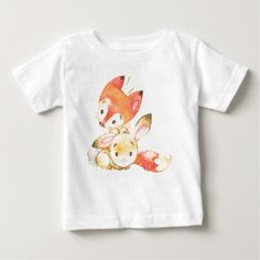 Fox and Bunny Baby T-Shirt - shower gifts diy customize creative