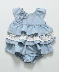 Vestido Baby Jeans Azul Claro