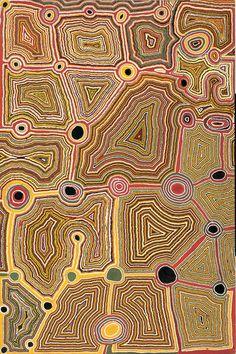 Tjumpo Tjapanangka - Artist's Country  1989  179 x 118.5 cm